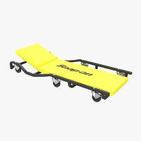 3D car creeper yellow jcw65y
