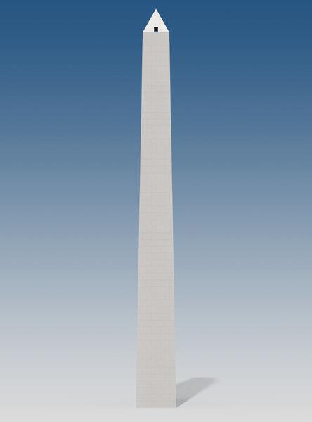 buenos aires obelisk 3D model