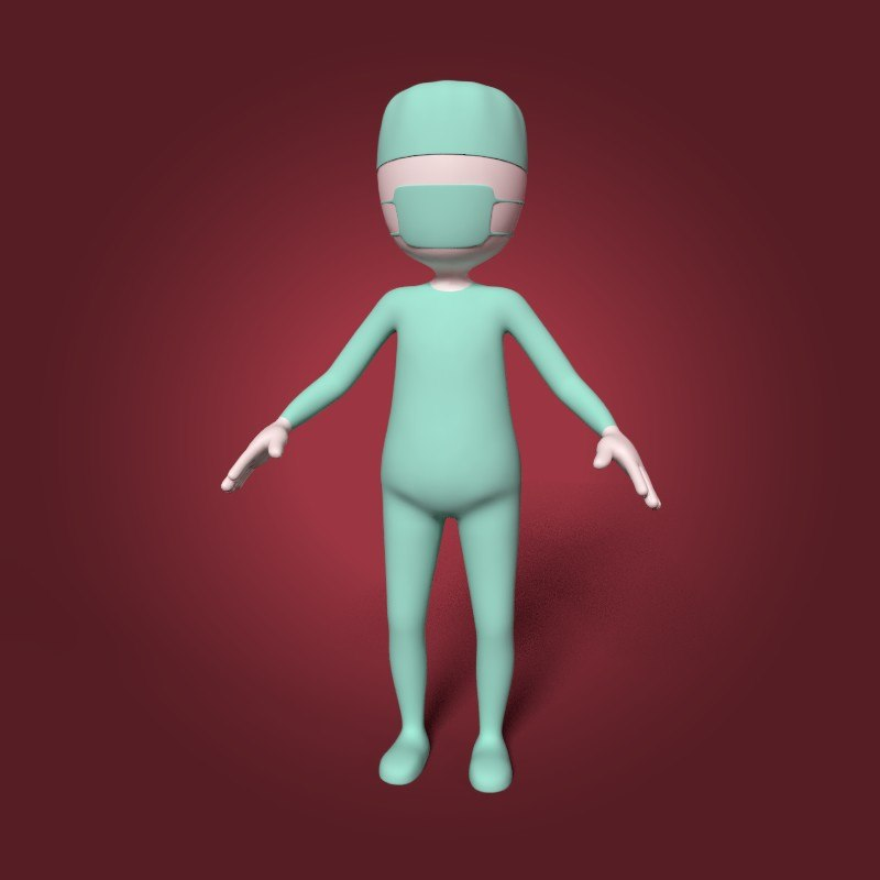 3D cartoon surgeon