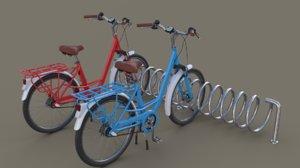 3D spiral bike stand model