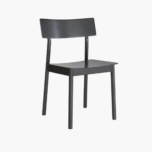 3D woud pause dining chair