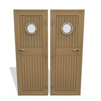 Ship wooden door C