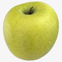 golden delicious apple 02 model