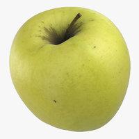 golden delicious apple 03 3D model
