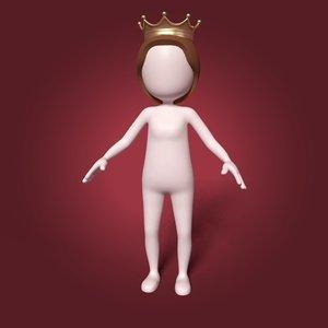 3D cartoon princess