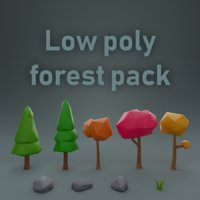 Low poly forest pack