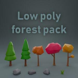pack tree rock model