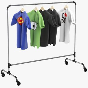 3D clothes stand