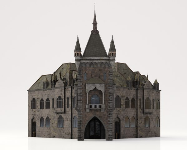 bloodborne style church buildings 3D model