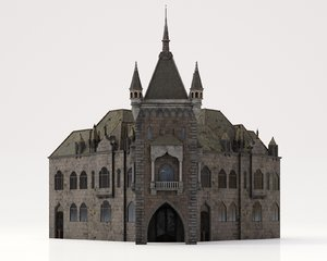 bloodborne style church buildings 3D model
