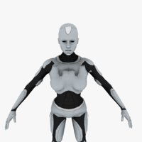 android female 3D model