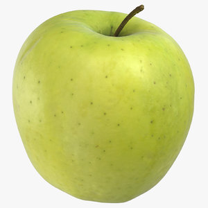 golden delicious apple 04 3D model