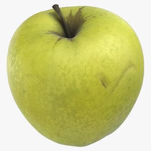 3D model golden delicious apple 05
