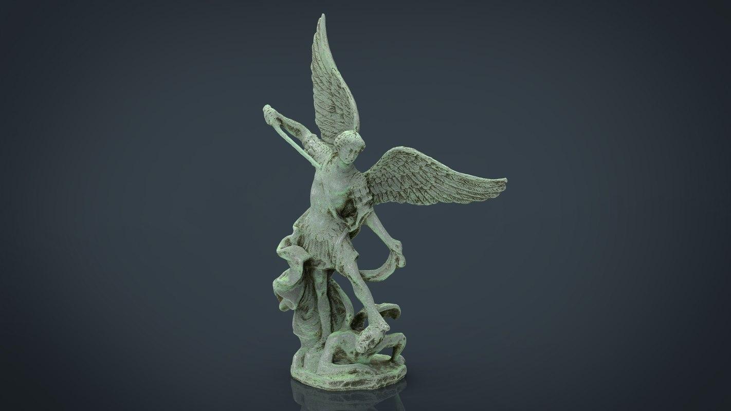 saint michael archangel 3D model