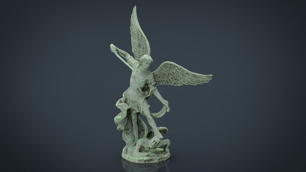 saint michael archangel 3D model