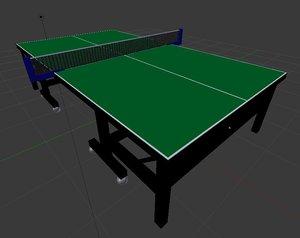 table tennis 3D model