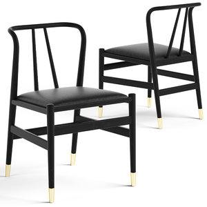 3D cult living jasper wooden chair model