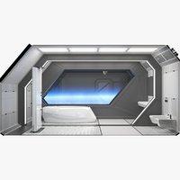 3D futuristic bathroom interior scene