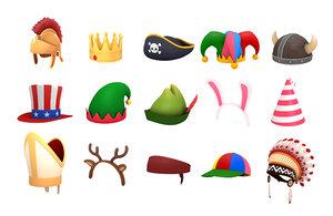 hats helmet 2 3D