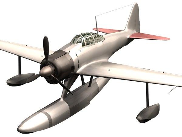 a6m2-n 2 nakajima 3D model