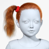 realistic hairstyle hair fur 3D model