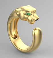 3D panther ring jewelry model