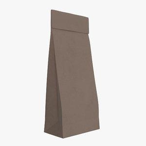 3D bag paper brown