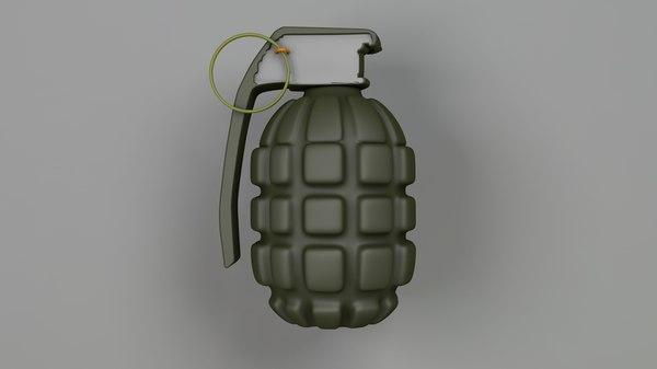 grenade explosive weapon 3D