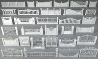 3D fences - 31 pieces