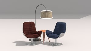 3D model realistic sofa chair 3