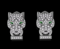 panther earring jewelry 3D model