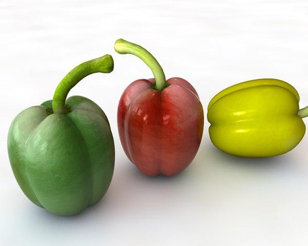 peppers 3D model