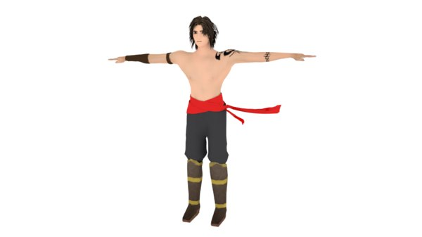 prince warrior character 3D