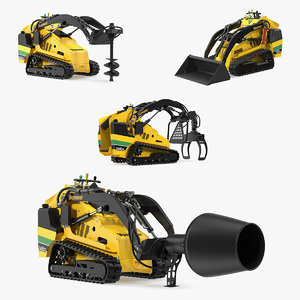 3D model mini skid steer vermeer