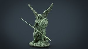 3D saint raphael archangel
