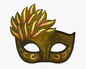 mask carnival venetian model