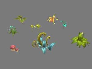 3D swamp plant model