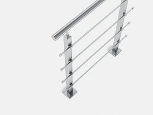 3D railing inox horizontal model