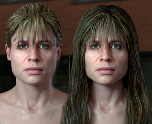 3D model sarah connor linda hamilton