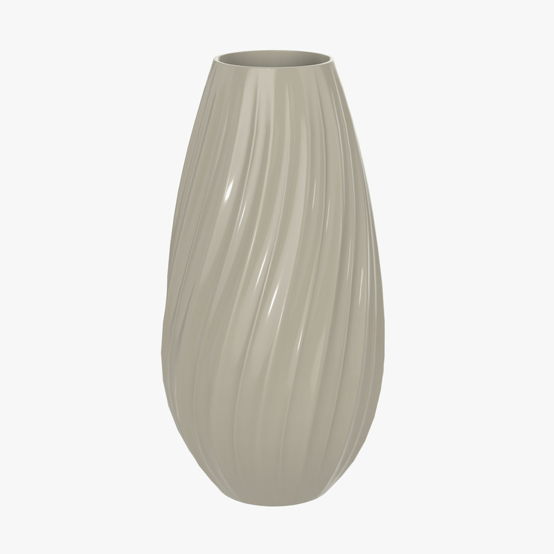 3D vase decorative model