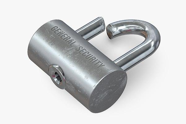 3D broken lock