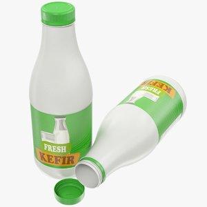 3D kefir bottle