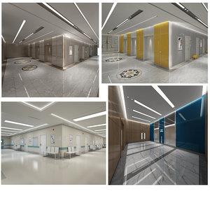 elevator hallway 3D model