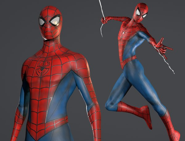 spider-man rigging ready 3D
