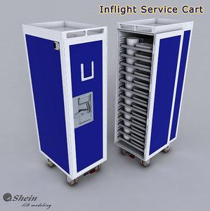 3D inflight service cart model
