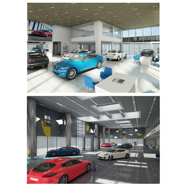3D model car dealership