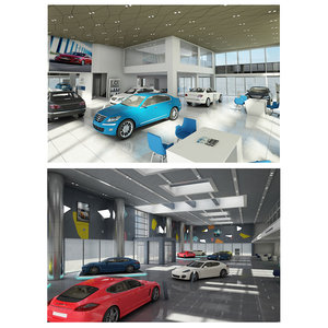 3D model car dealership