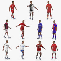 soccer players rigged model
