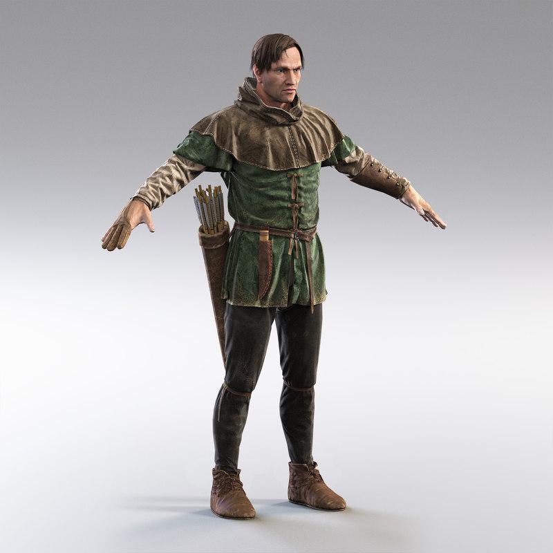 medieval huntsman 3D model