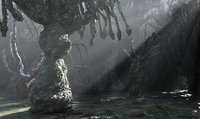 3D alien forest tree model